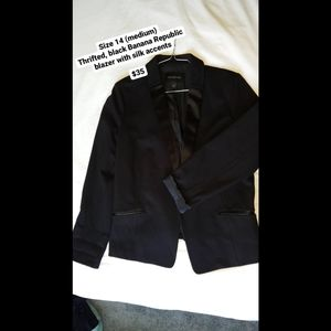 Banana Republic Black Blazer/Suit Jacket